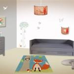 decoration chambre bebe theme foret