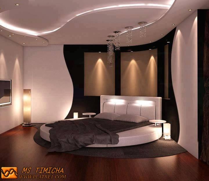 Plafond En Platre Chambre A Coucher. Decoration Platre Plafond Faux ...