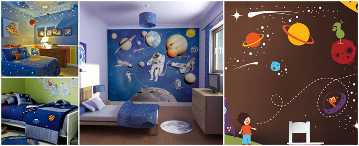 Decoration Chambre Theme Planete