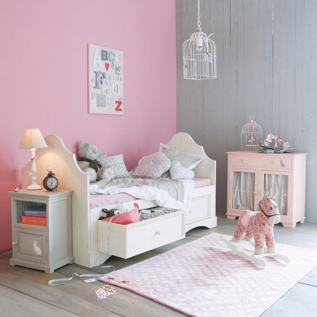 Decoration Chambre Gris Et Rose Visuel 1