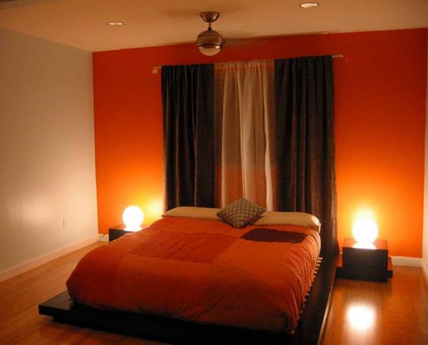 decoration chambre orange et gris - visuel #6