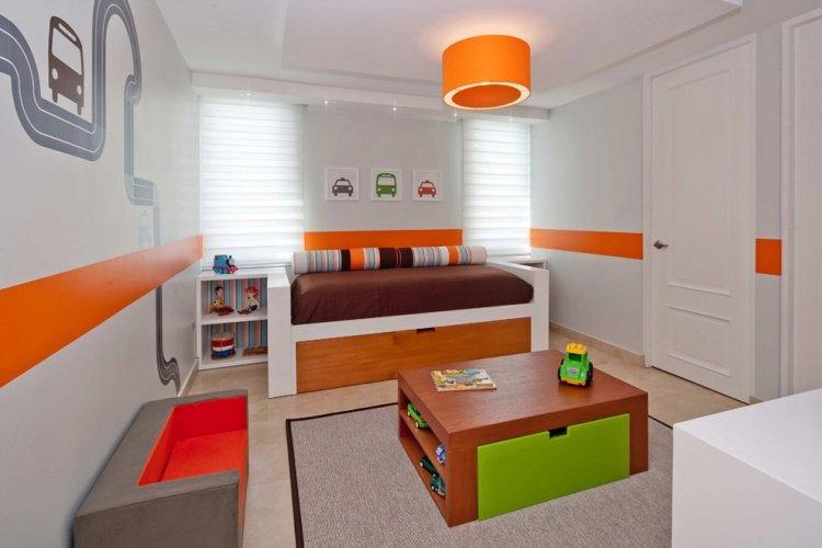 decoration chambre orange et gris - visuel #8