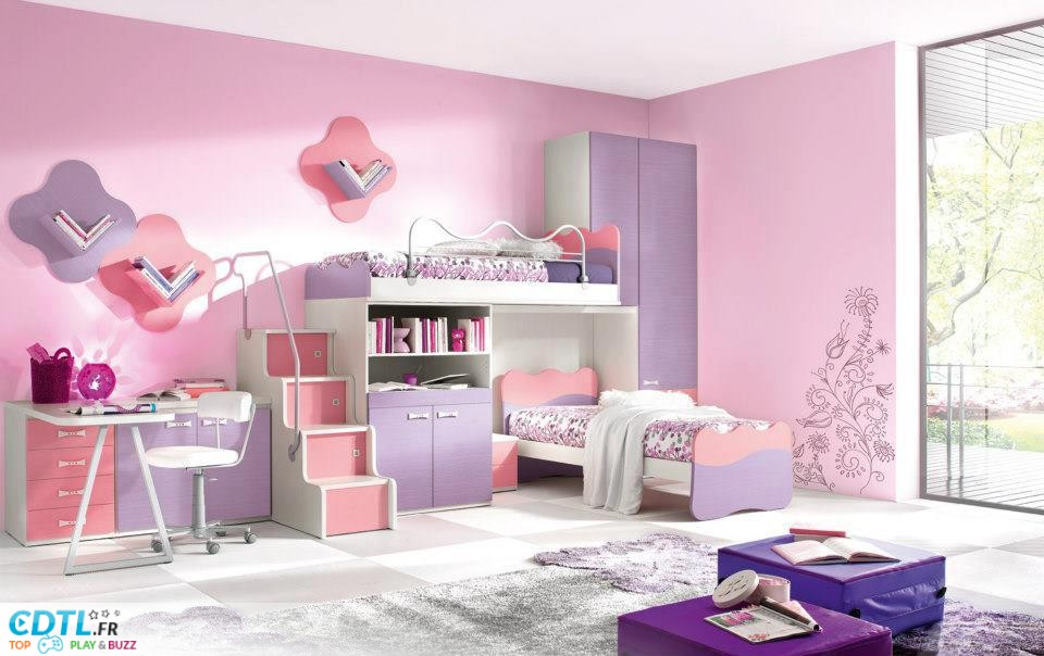 decoration de chambre de fille de 9 ans. Black Bedroom Furniture Sets. Home Design Ideas