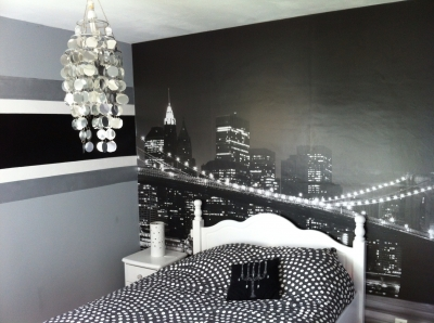 decorations chambres new york. Black Bedroom Furniture Sets. Home Design Ideas