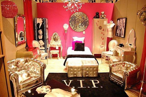 Deco chambre style glamour for Idee deco chambre romantique
