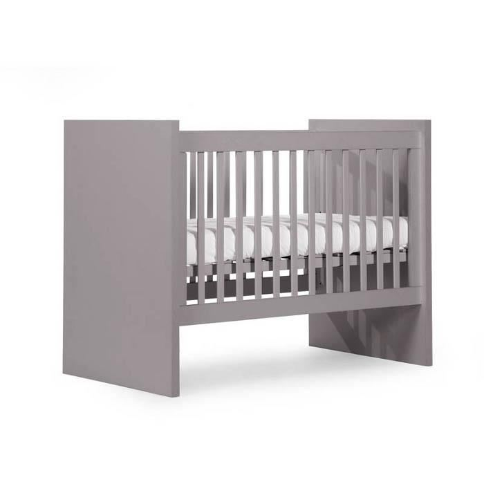 lit bebe evolutif junior childwood flat stone grey