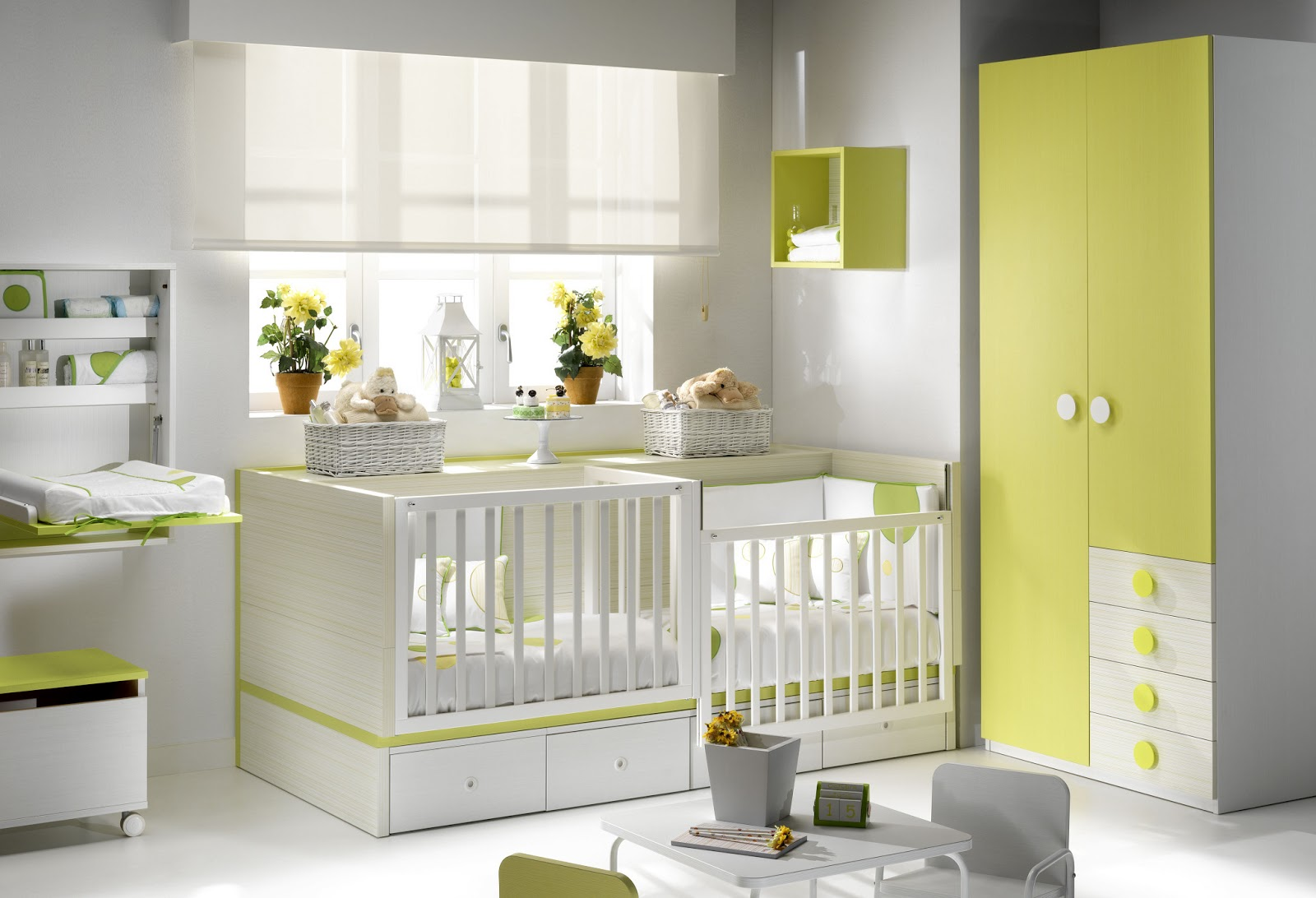 Beautiful Chambre Jumeaux Bebe Contemporary - Home Decorating ...