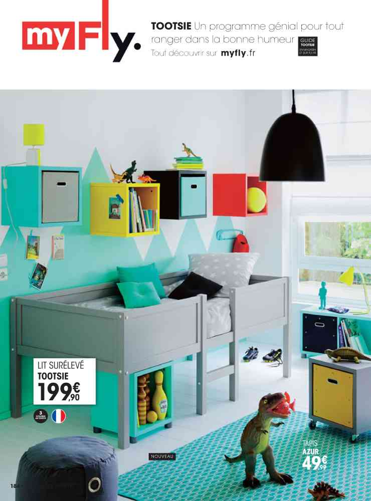 Chambre Jungle Fly : Awesome lit junior fly u visuel with chambre ado