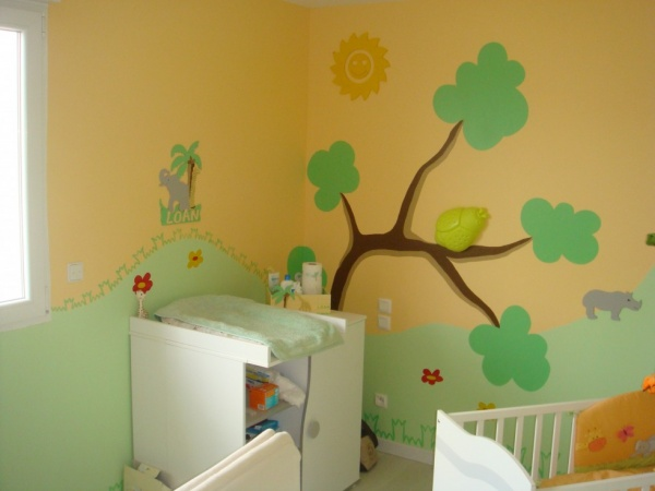 Photo chambre bebe jungle - Decoration chambre bebe jungle ...