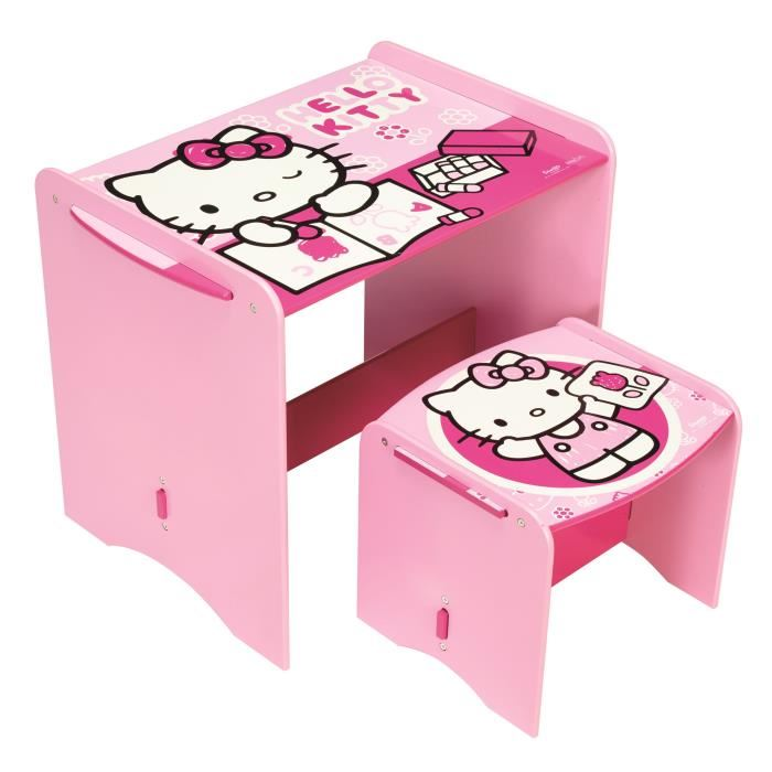 bureau pour fille hello kitty visuel 2. Black Bedroom Furniture Sets. Home Design Ideas