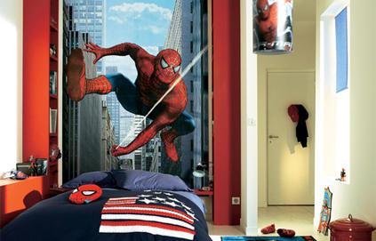 chambre decoration spiderman visuel 5. Black Bedroom Furniture Sets. Home Design Ideas
