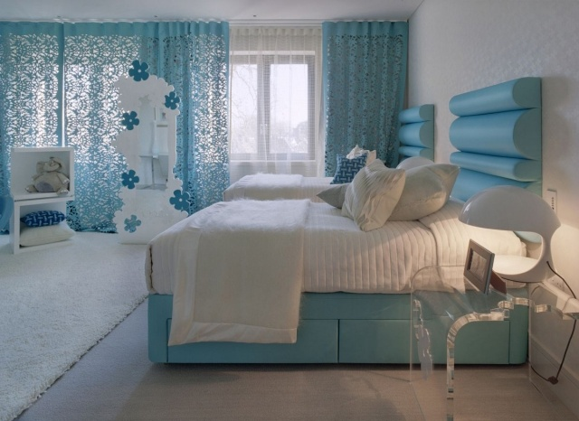 Deco Chambre Ado Bleu Turquoise Visuel 2