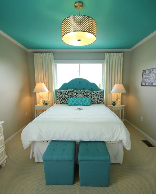 deco chambre ado bleu turquoise visuel 8. Black Bedroom Furniture Sets. Home Design Ideas