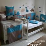 Deco chambre bebe bleu et taupe - Deco chambre bebe gara on taupe et bleu ...