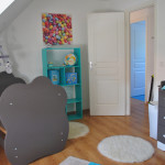chambre bebe bleu et taupe