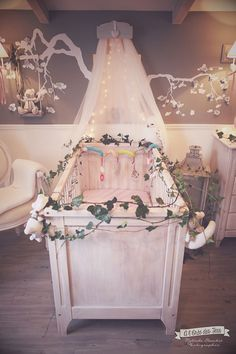 deco chambre bebe romantique. Black Bedroom Furniture Sets. Home Design Ideas