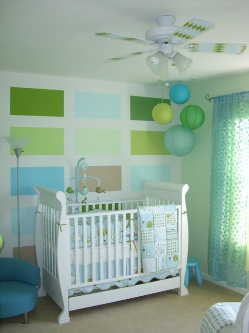 deco chambre bebe vert et bleu. Black Bedroom Furniture Sets. Home Design Ideas