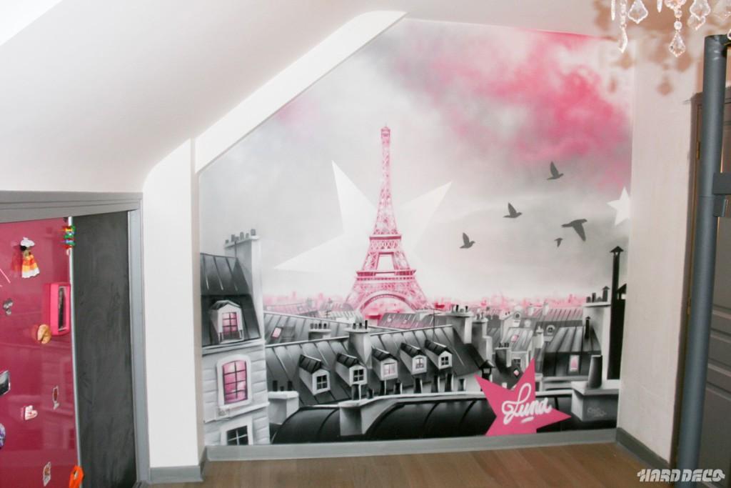 Deco chambre fille star visuel 3 for Decoration chambre theme paris