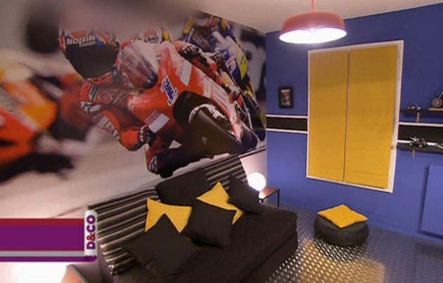 deco chambre garcon moto. Black Bedroom Furniture Sets. Home Design Ideas