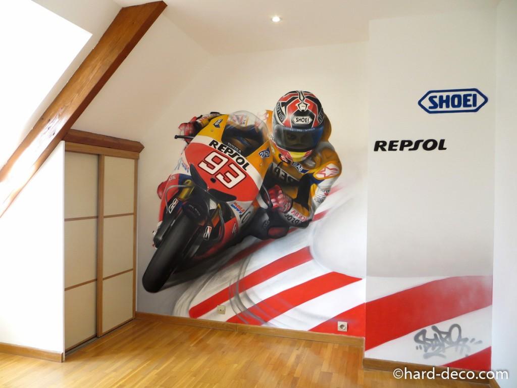 Deco chambre garcon theme moto visuel 9 for Theme chambre garcon