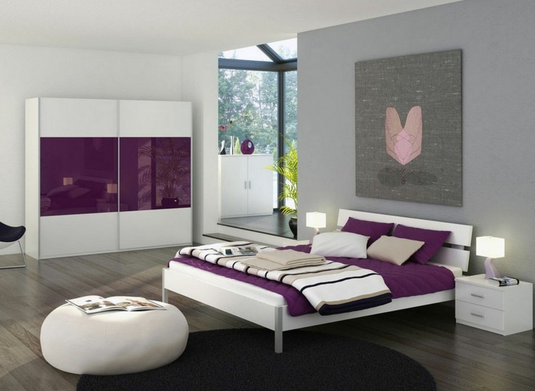 deco chambre parentale moderne visuel 3. Black Bedroom Furniture Sets. Home Design Ideas