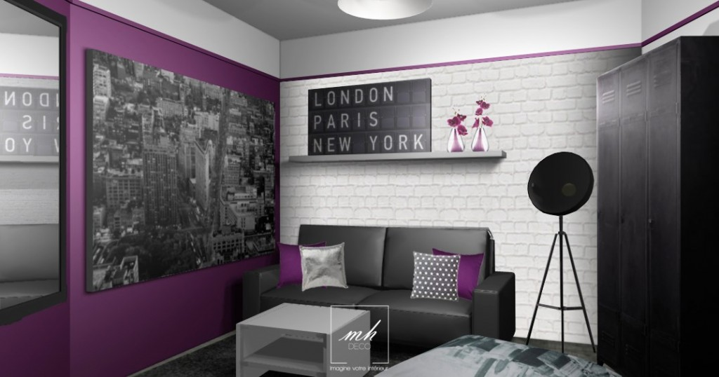 Deco chambre theme paris for Chambre paris
