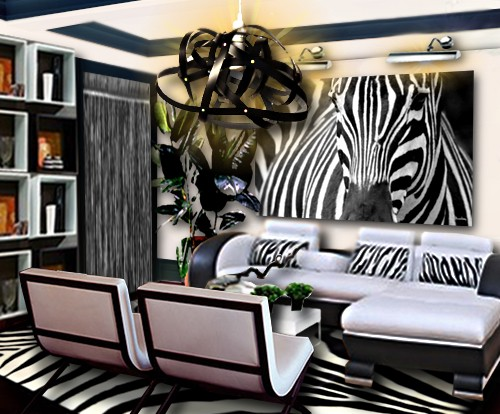 decoration zebre chambre. Black Bedroom Furniture Sets. Home Design Ideas
