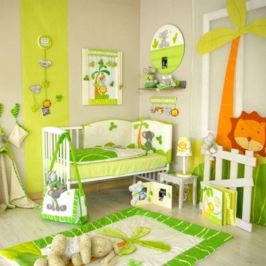 Deco de chambre jungle for Decoration chambre nouveau ne fille