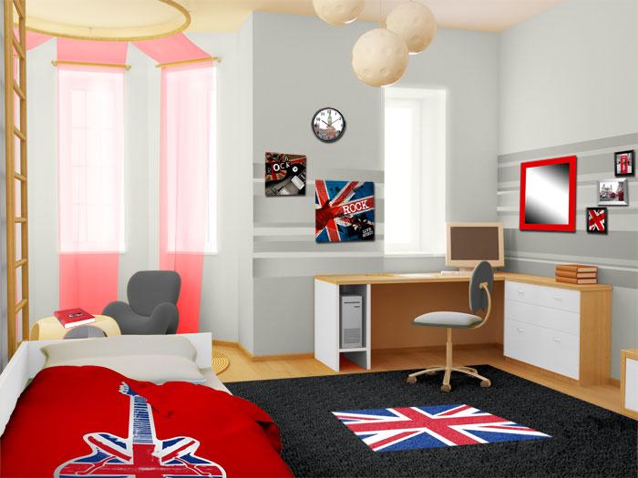 Deco london chambre ado - Deco chambre london fille ...