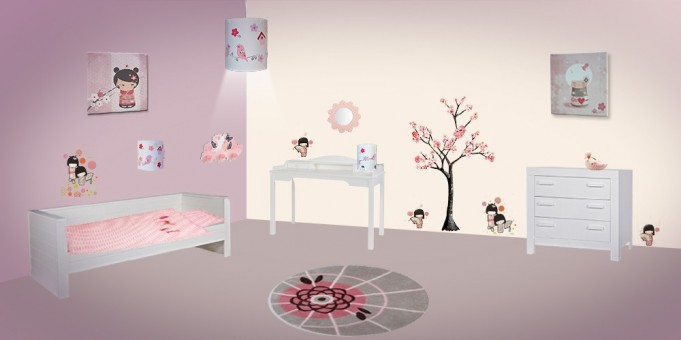deco japonaise chambre bebe visuel 3. Black Bedroom Furniture Sets. Home Design Ideas