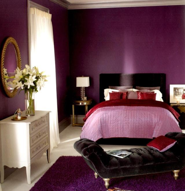 Chambre Noir Et Violet. Download La Lumire Peinte Dans Le Rose A ...