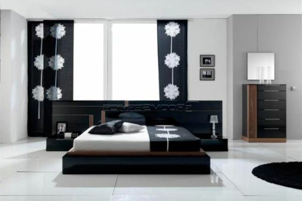 decoration chambre a coucher noir et blanc visuel 3. Black Bedroom Furniture Sets. Home Design Ideas