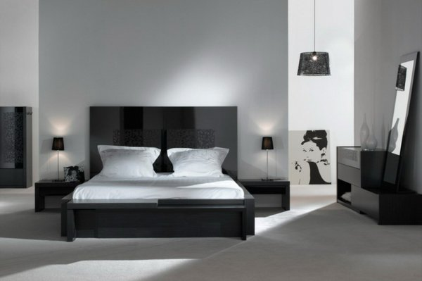 decoration chambre a coucher noir et blanc with chambre a. Black Bedroom Furniture Sets. Home Design Ideas