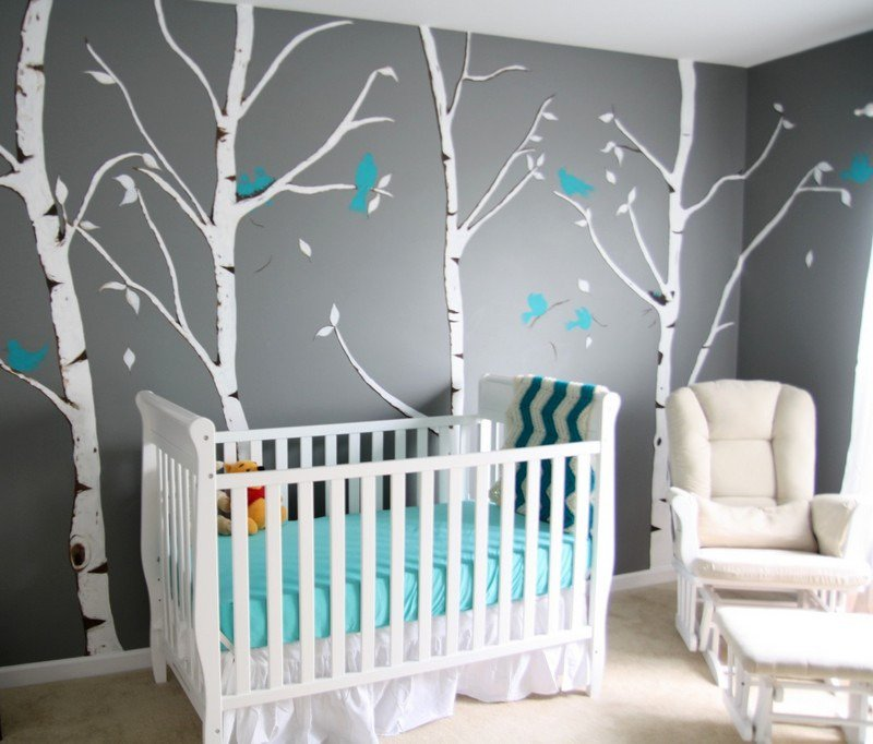 Decoration chambre bebe turquoise et gris for Chambre turquoise