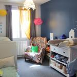 decoration chambre fille bleue
