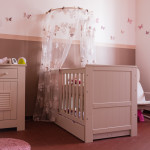 decoration chambre fille rose et taupe