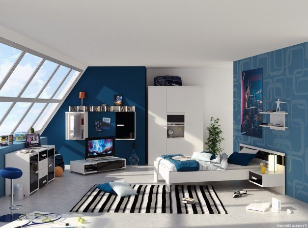 decoration chambre garcon adolescent. Black Bedroom Furniture Sets. Home Design Ideas