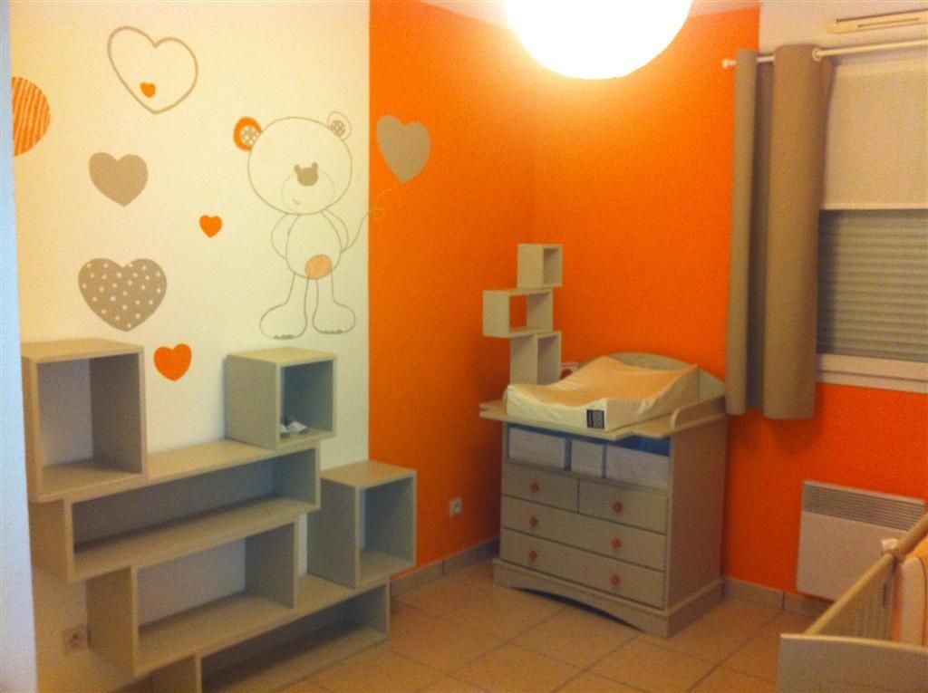Superbe Decoration Chambre Garcon Orange Et Gris U2013 Visuel #1