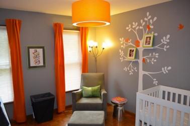Emejing Chambre Bebe Orange Et Gris Gallery - Sledbralorne.com ...