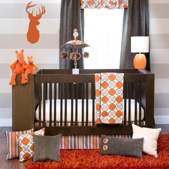 Decoration Chambre Garcon Orange Et Gris U2013 Visuel #6. «
