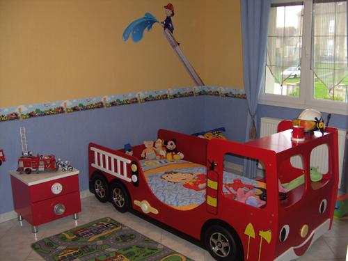decoration chambre garcon pompier - visuel #2