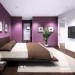decoration chambre mauve et gris