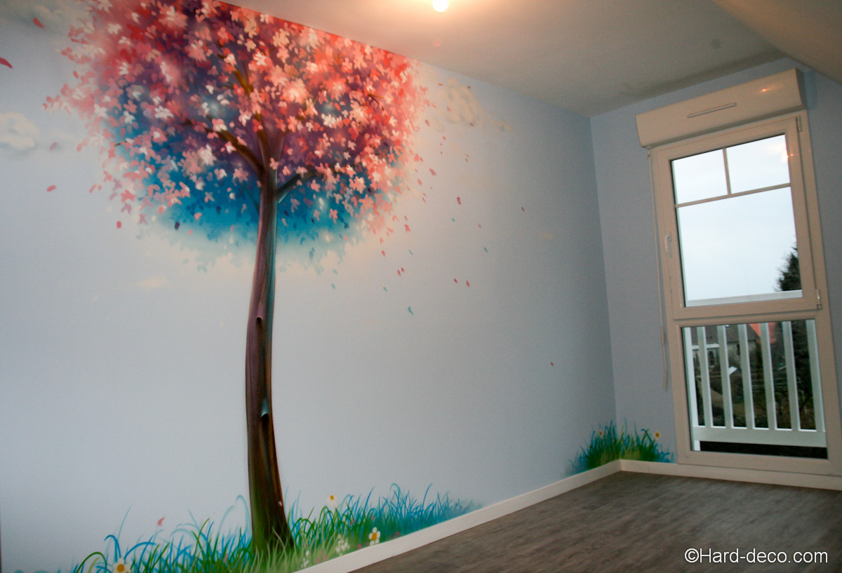 Decoration chambre peinture murale for Decoration murale jardin