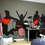 decoration chambre rock