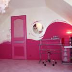 chambre rose fuchsia