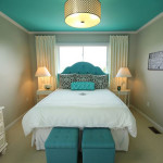 decoration chambre turquoise
