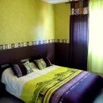 decoration chambre vert anis et chocolat