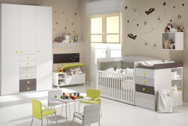 Photo chambre bebe mixte visuel 6 for Decoration chambre de bebe mixte
