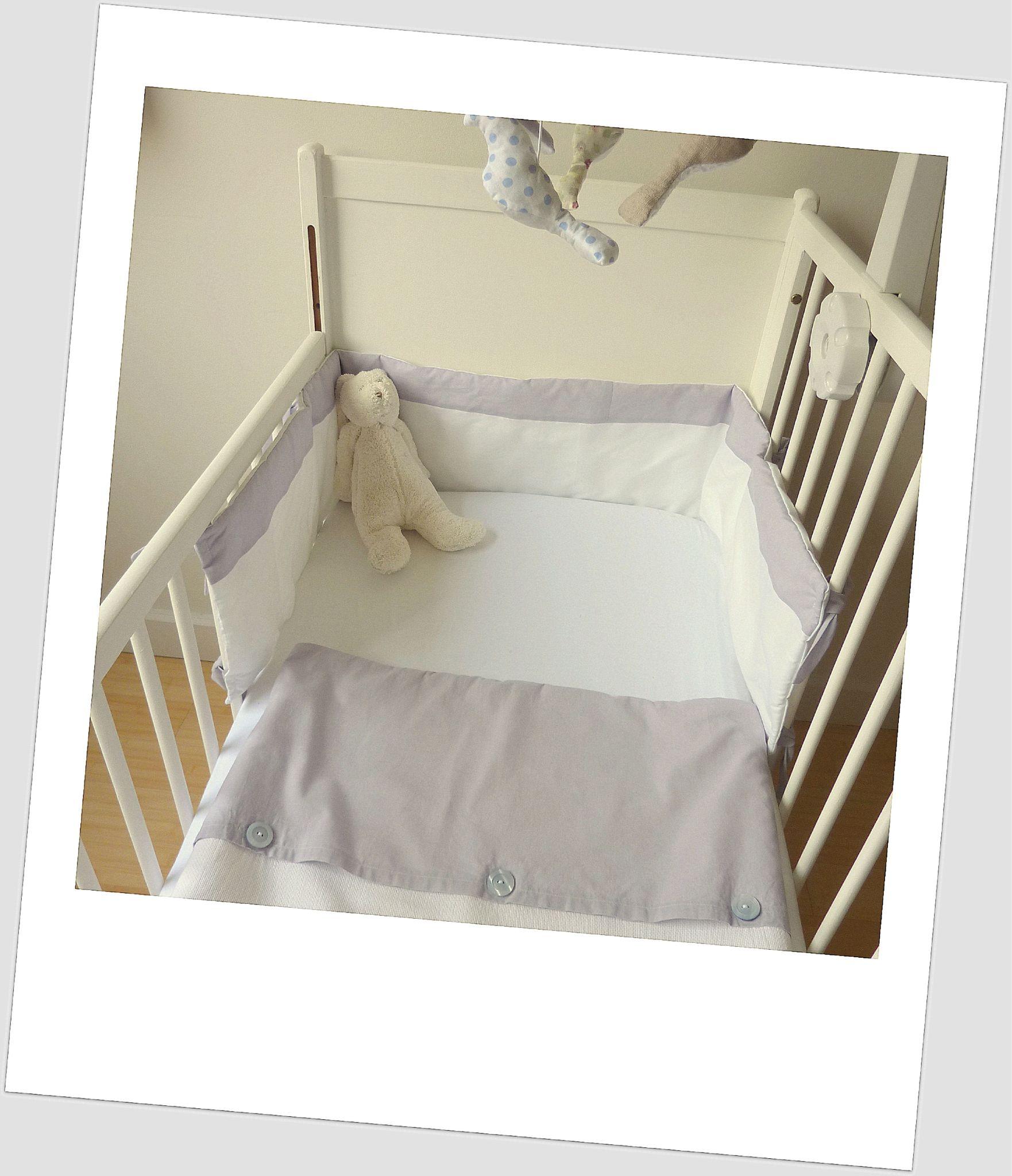 Tour de lit bebe lit sans barreaux - Tour de lit beige ...