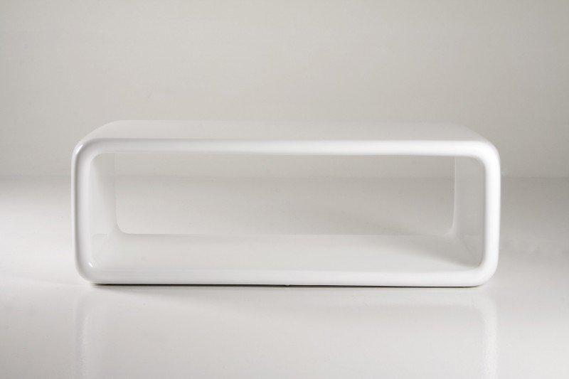bout de lit laque blanc
